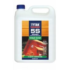Биозащита Строительной Древесины 5S Tytan,  5кг,  (зеленый, бесцветный)